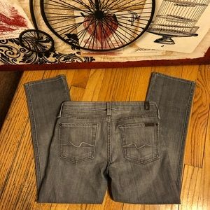 SZ 24-7 FOR ALL MANKIND GRAY SKINNY CROP JEANS
